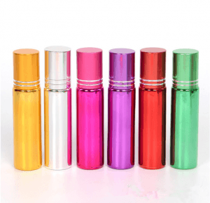 10ml colorful roll on glass bottle uv printing roller ball bottle