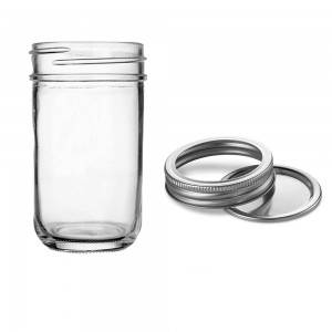 Tapered 12 OZ Preserving Regular Mouth Mason Jar for Caviar Herb Jelly Jams