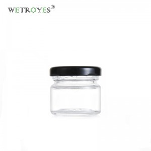 Mini 1oz 25ml Small Glass Jar Honey jar with Metal Lid for Jam Candy