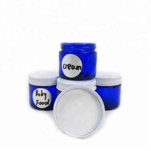 In Stock 20g 30g Cosmetic Cream Jar Blue 50g jar for Candle