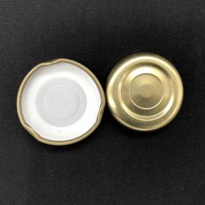 38mm Metal Lug Cap Food Grade Gold Silver Twist Off Lids for Glass Bottle Jar