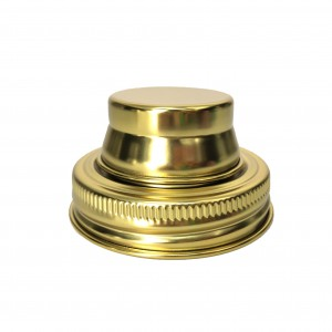Golden Color Regular Mouth 70mm Stainless Steel Mason Jar Shaker Lid