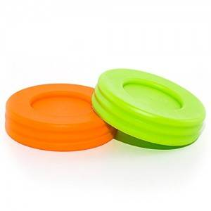 70mm Plastic Mason Jar Lids with Silicone Sealing Ring for Baby Food Jar