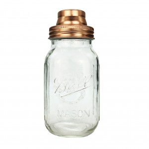 Regular Mouth 304 Stainless Steel Mason Jar Copper Color Shaker Lid