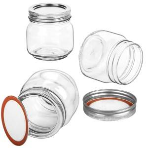 8 OZ 250 ML Glass Mason Jar with Regular Lid Glass Jar for Jam Jelly Honey Spice Favors