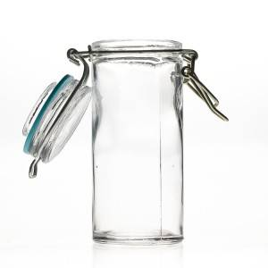 90 ml Cylinder Spice Candy Glass Jar with Airtight Clip Lids