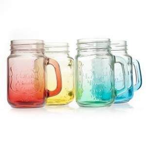 16 oz 480 ml Glass Mason Jar with Handle
