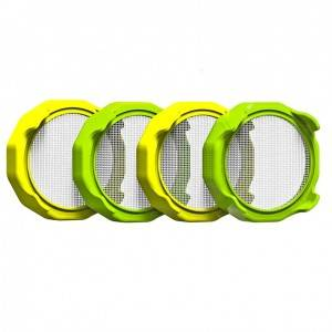86mm Sprouting Lid ABS Plastic Ring with 316 Stainless Steel Mesh