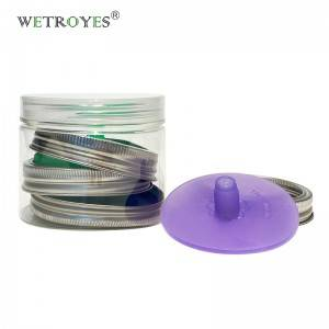 Custom Pack of 4 Airlocks Silicone Fermentation Lids with Bond