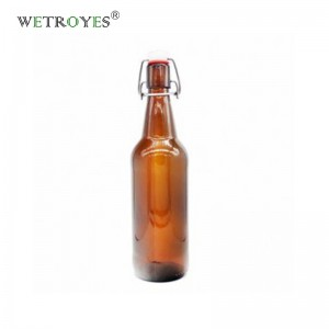 Hot Sale Premium Swing Top Amber Clear 500ml Beer Juice Glass Bottle