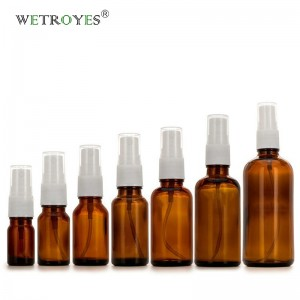Amber Glass Bottles for Essential Oil with Fine Mist Sprayer
