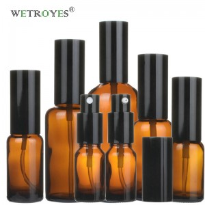 Amber Glass Essential Oil Spray Bottles with Plastic Sprayer