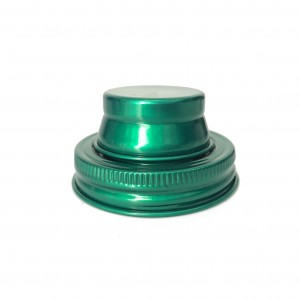 Green Color 18/8 Stainless Steel Mason Jar Shaker Lid
