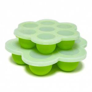 Non-toxic FDA approved Silicone Storage Container Baby Food Freezer Tray with Clip-on Lid