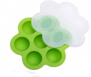 Non-toxic Baby Food Freezer Tray FDA approved Silicone Storage Container