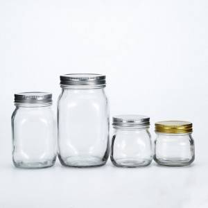 Glass Mason Jar 250ml 380ml 500ml 1000ml  for Jam Honey