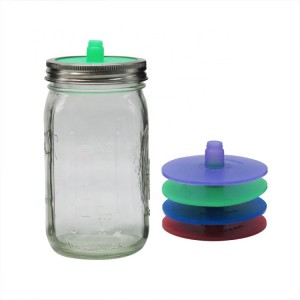 Glass Fermentation Jar 800ml with Silicone Fermentation Lid