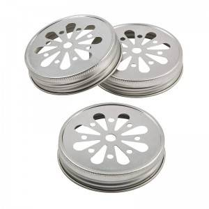 Regular Mouth 70mm Daisy Cut Metal Lids for Mason Candle Jars