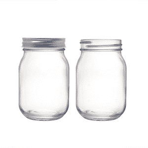 16oz 500ml Glass Mason Jars with 70mm Metal Lids