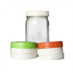 Custom White Black Colorful 86mm Plastic Cap for Wide Mouth Ball Mason Jar