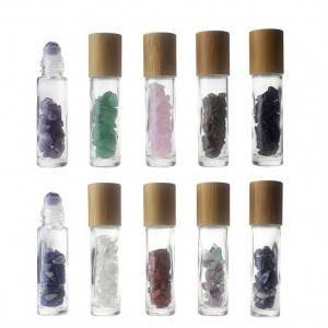 10ml Roll On Glass Bottle for Oil Perfume with Bamboo Cap