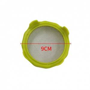 Wide Mouth 86mm Sprouting Lid ABS Plastic Ring with 316 Stainless Steel Mesh for Mason Jar