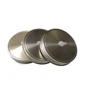 86mm 304 Stainless Steel Mason Jar Lids with Silicone Ring for Straw