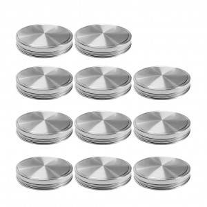86mm Wide Mouth Mason Jar Lids Stainless Steel Canning Jar Lids