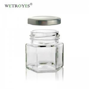 2oz Hexagon Magnetic Spice Jars