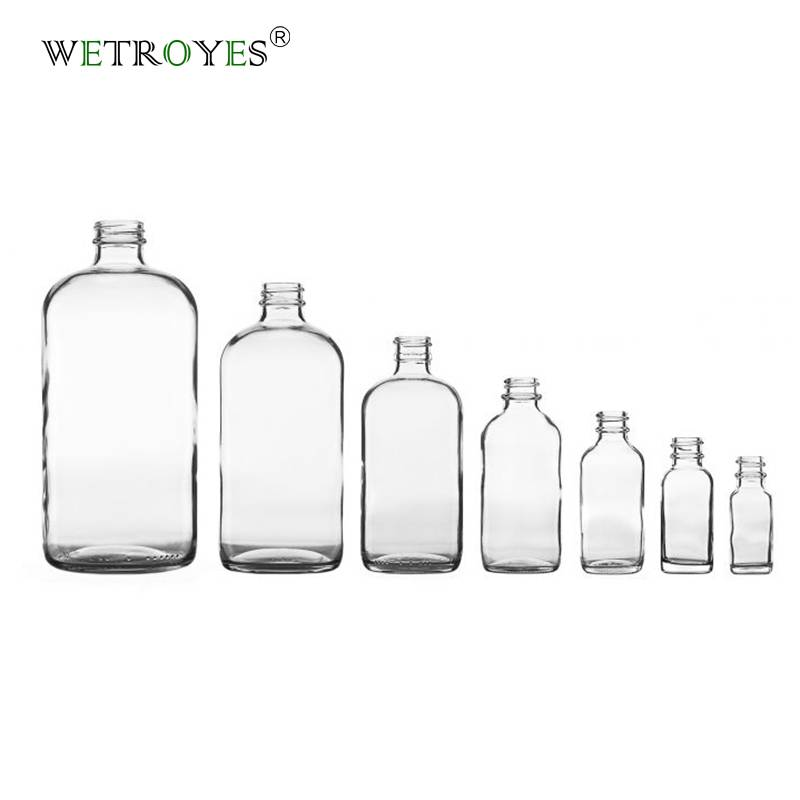 Clear Boston Round Glass Bottle Featured Image