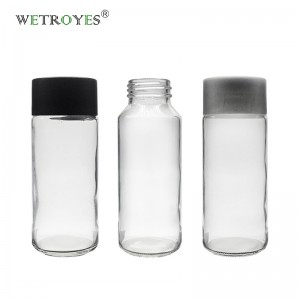 250ml Straight Sided Glass Water Bottle