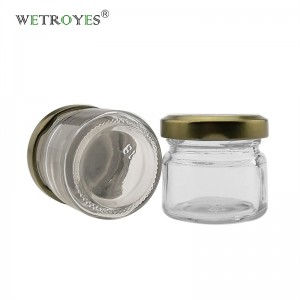 28 gram 1oz Sample Honey Jam Jelly Glass Jar with Metal Lids