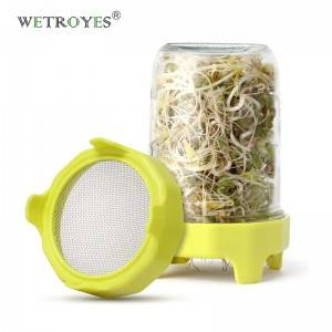 86mm SS Mesh ABS Band Sprouting Lid for Wide Mouth Mason Jar