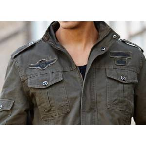 Xitwa Fashion Design ħoxna Windproof forza tal-ajru ġakketta militari Ħwejjeġ Men Green taċ Jacket