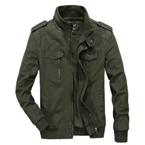 Men's autumn jacket coat washed cotton military thin jacket coat large size
