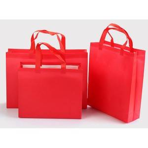 High quality logo customized silk printing laminated shopping tote pp non woven bag guangzhou