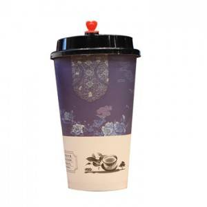 TD kraft paper cup Disposable coffee paper cup waxed paper cup