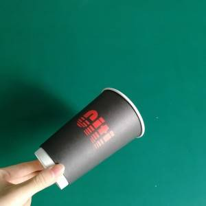 Custom Logo Printed Disposable Material Biodegradable PLA Hot Coffee Paper Cups