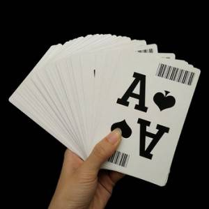 Jumbo index Barcode Playing Cards Poker For Online Casino Custom With Logo