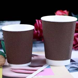 Disposable double wall paper cup blank paper cup printing