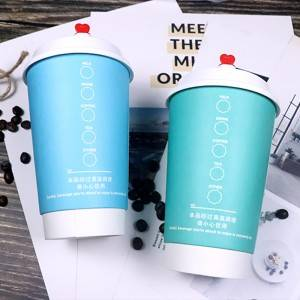 TD Custom Printing disposable paper cup coffee 6oz