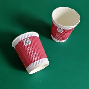 Custom Eco Friendly 330ml 12 / 14 / 16 OZ Promotion Paper Cups With Lid