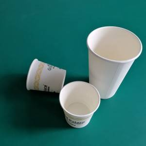 220ML 100% Biodegradable Disposable PLA Coated Tea Paper Cup