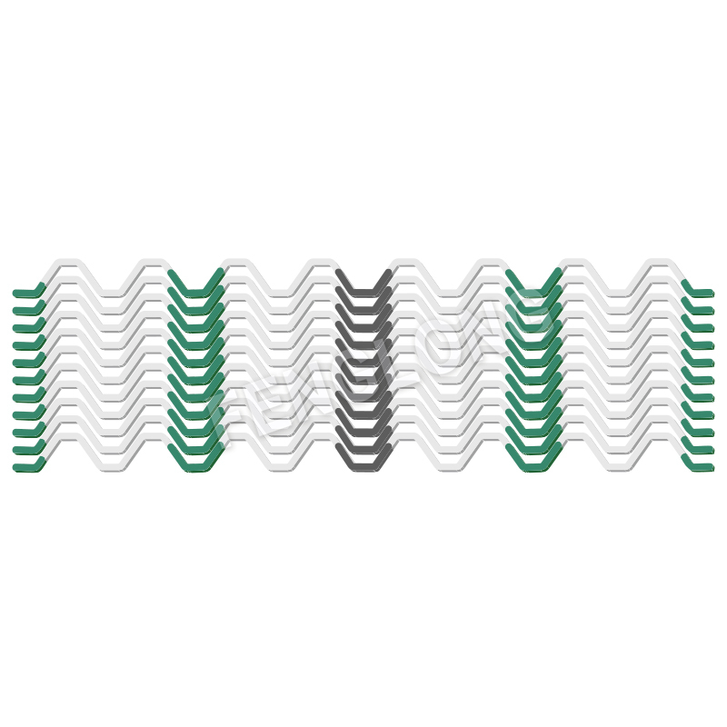 Wiggle Wire,Galvanized Spring, Full PVC Coated Zigzag Wire ,White Color, 6 Years, B6 Series Featured Image