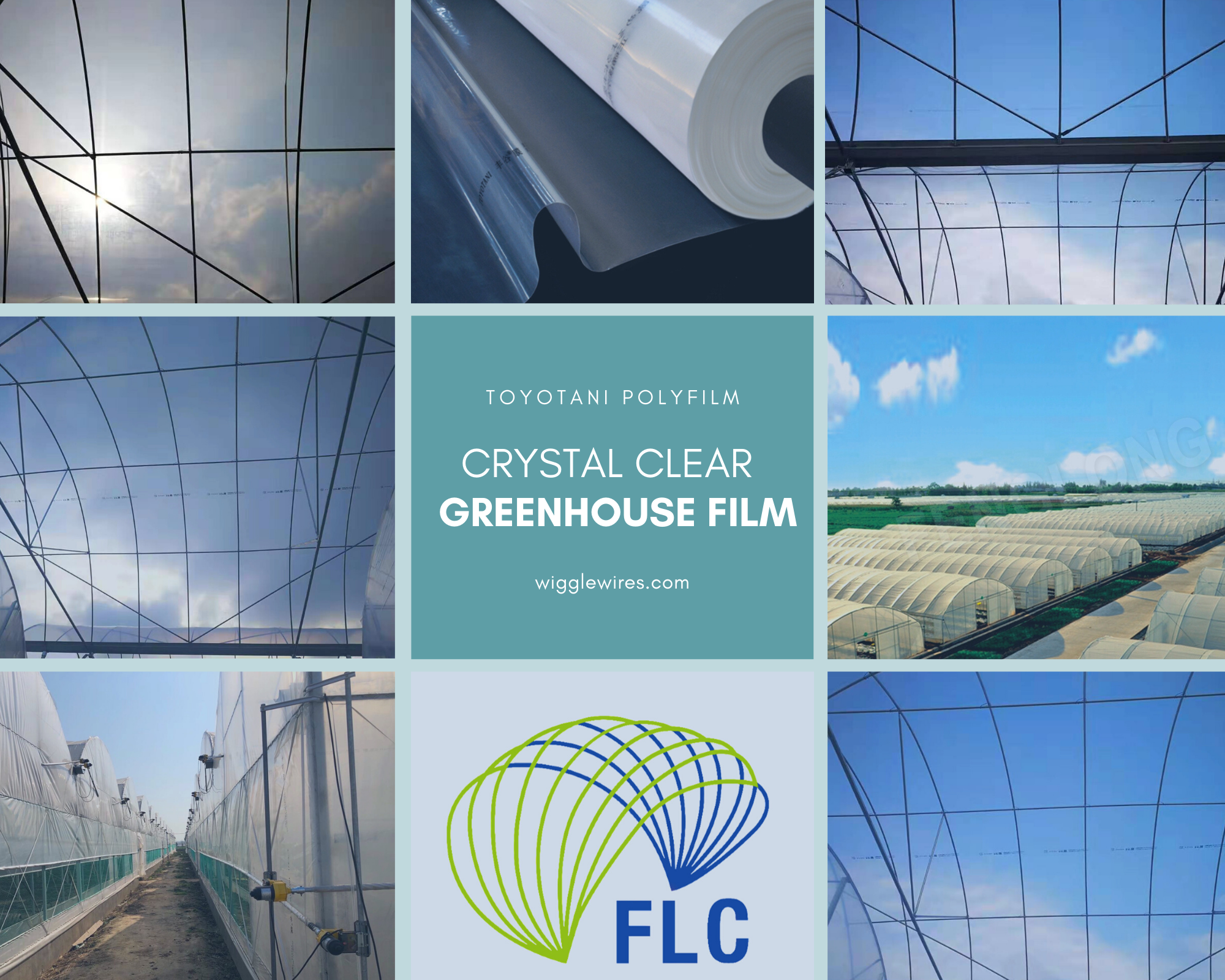TOYOTANI™ Crystal Clear Greenhouse Covering Film, Growers' Favorite