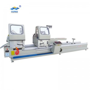 Double head cutting saw with digital measurment
