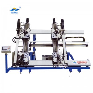 aluminum window corner crimping machine