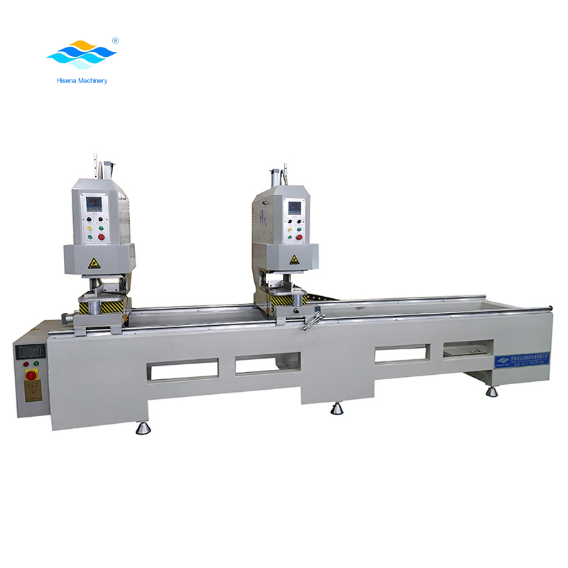 Double heads seamless window corner welding machine