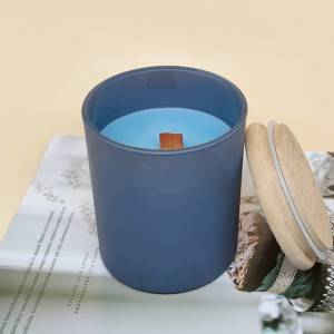 Natural aromatherapy wood wick scented soy candle
