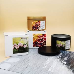 Luxury metal tin jar gift candle set